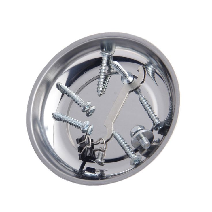 Винт Лоток С Магнитной Нержавеющей Стали Круговой Магнитный лоток Для Автозапчастей Присоска Поглощают Блюдо Инструменты 1 шт.
