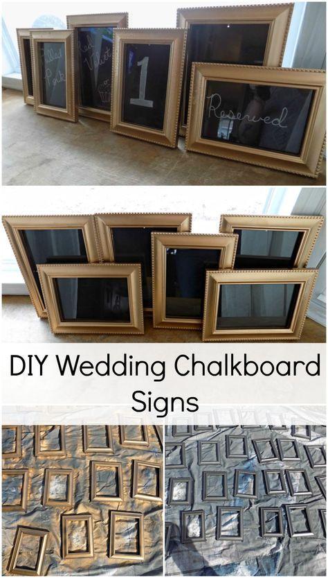 DIY Wedding Chalkboard Signs - My Own Home