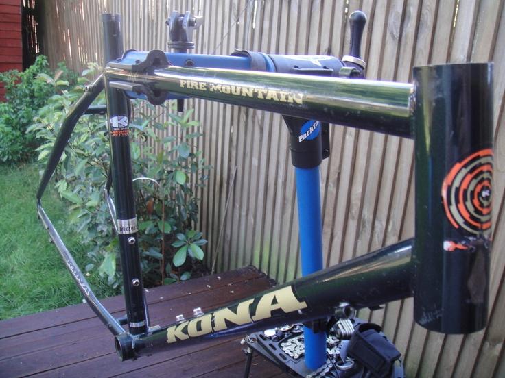 #1994 Kona Fire Mountain retro mountain bike frame Like, Repin, Share, Follow Me! Thanks!