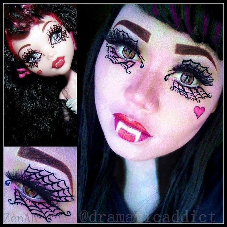 Monster High Doll Draculaura ''Ghouls Rule'' Makeup Tutorial