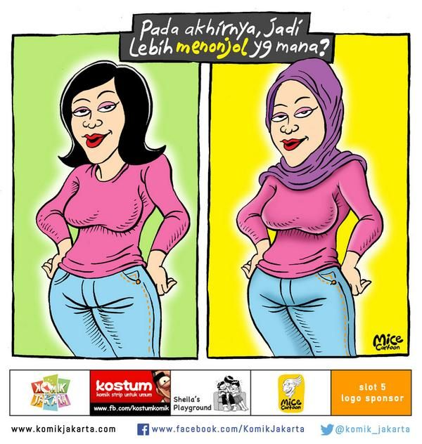 Jilboobs #KomikJakarta @mice_cartoon