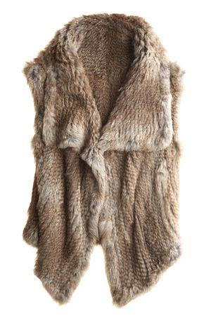 Faux fur vest, need one!