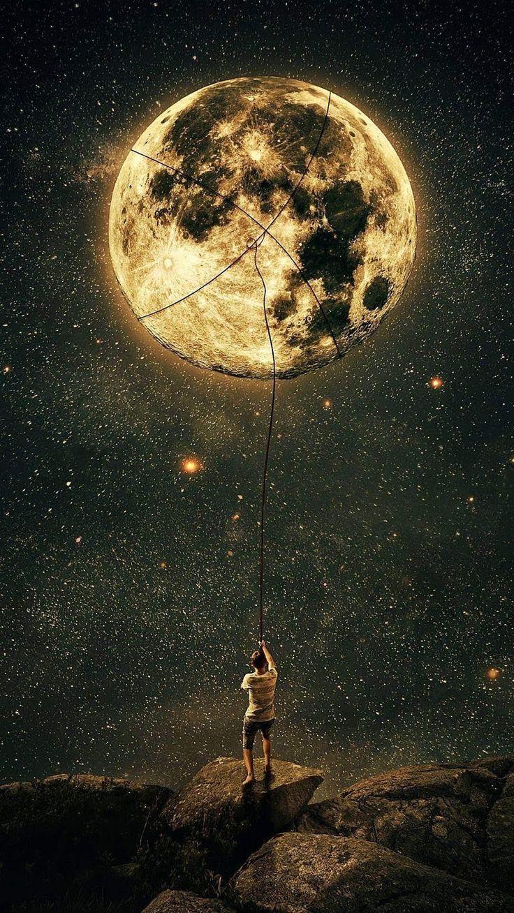 Catch the moon – Beautiful Wallpaper