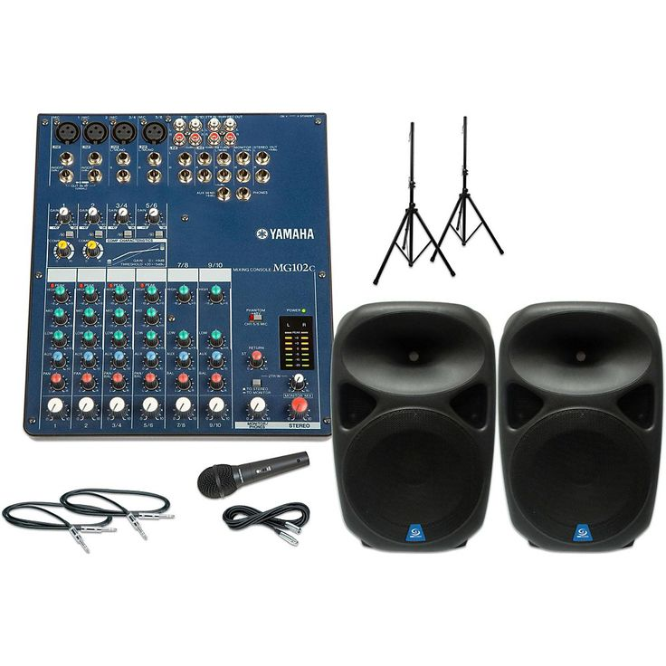 "Yamaha MG102C with PXB150USB 15"" Speaker PA Package"