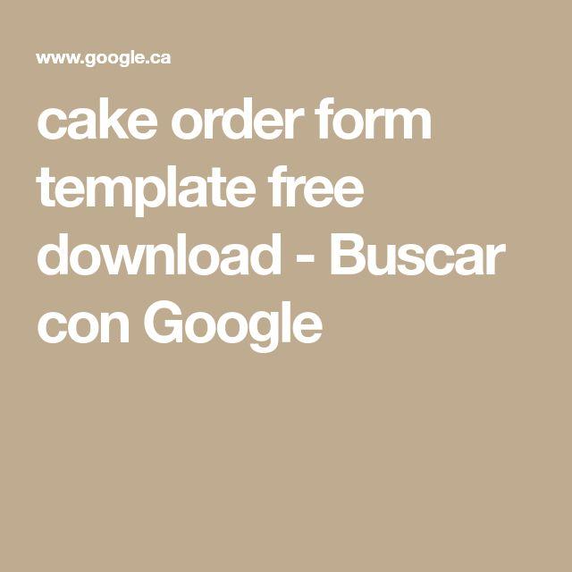 Viac ako 25 najlepších nápadov na Pintereste na tému Cake order forms - cake order forms