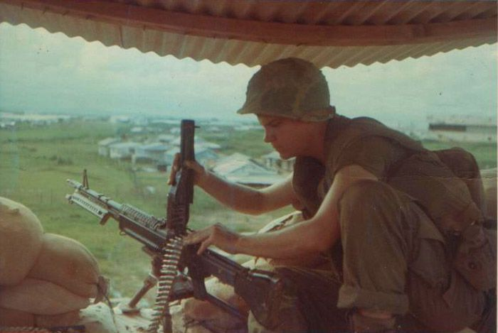 Marine on guard duty at Dong Ha, 1968. | Honor our Country ...