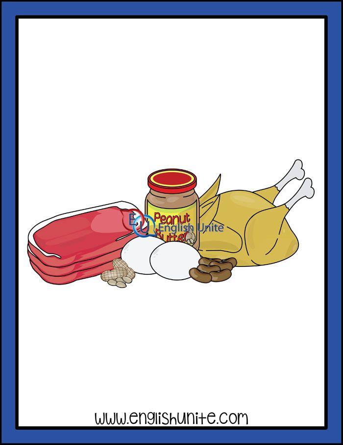 Long E Protein English Unite Kids Clipart Clip Art White Image