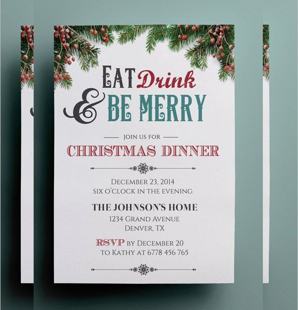 Christmas Eve Get Together Invitation Template Christmas Invitations Template Dinner Invitation Template Christmas Invitation Card