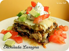 enchilada lasagna...two of my favorites combined....why not
