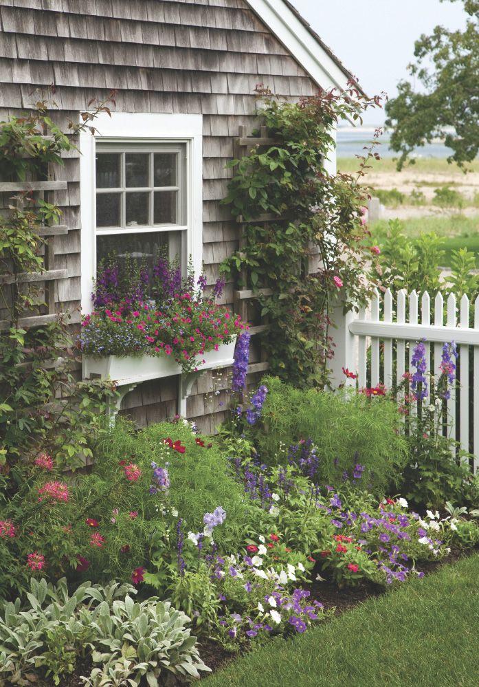 A Cape Cod seaside garden is just lovely!  #gardens #flowers homechanneltv.com