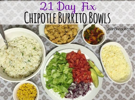 Healthy Chipotle Burrito Bowls, clean eating, eating clean, 21 Day Fix, 21 Day Fix recipes, 21 Day Fix approved, JennBreault.com
