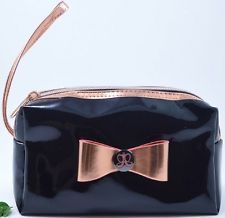 Anastasia Beverly Hills Black Rose Gold Bow Make-Up/Cosmetic Pouch *New in Bag*