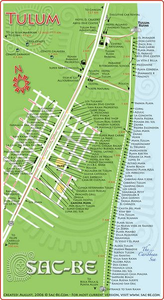 Tulum Hotel Map