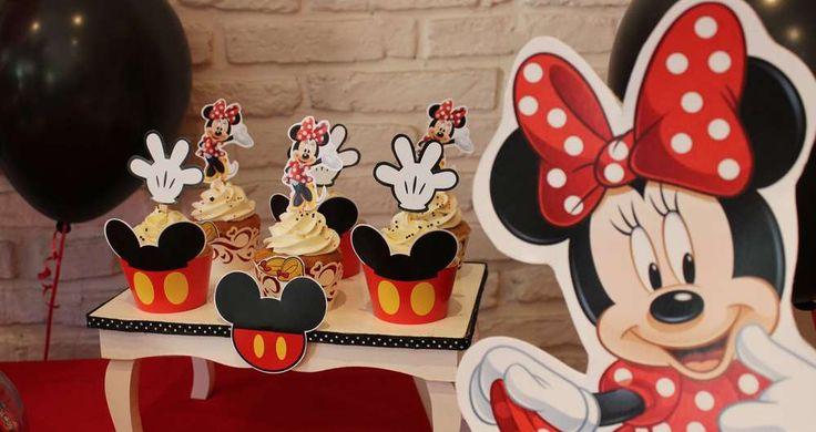 dulce cupcakes de mickey mouse