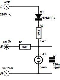 Este circuito não deve faltar na bancada, ou onde a segurança de muitos dispositivos elétricos e eletrônicos dependem da disponibilidade de uma tomada com ligação à terra.