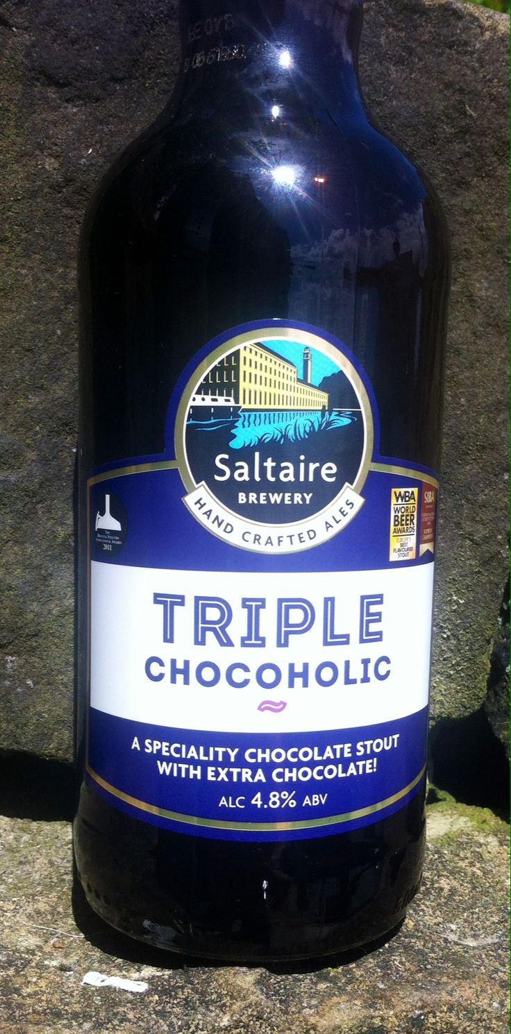 Triple Chocoholic Chocolate Stout. ABV 4.8%. Saltaire Brewey, Shipley, West Yorkshire. 7.5/10