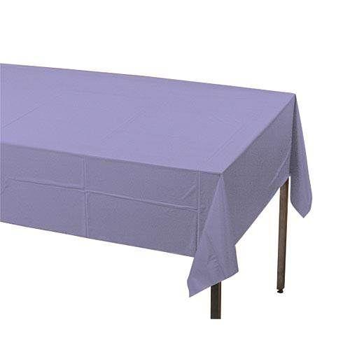 Luscious Lavender Plastic Table Cover