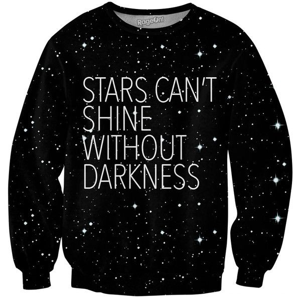 Stars Crewneck Sweatshirt ($55) ❤ liked on Polyvore featuring tops, hoodies, sweatshirts, shirts, sweatshirt, outerwear, sweaters, crew neck shirt, sexy shirts and all-over print shirts