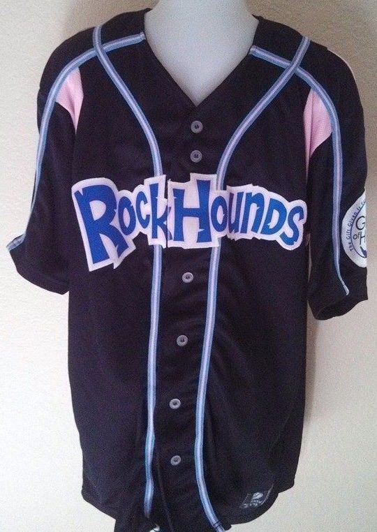 Midland Rockhounds Jersey 46 Minor League Baseball Authentic Stitched RARE please retweet
