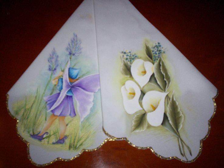 Como pintar servilletas de tela imagui pintura sobre - Como pintar azulejos a mano ...