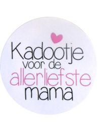 Sluitzegel 'Liefste mama' per 10 stuks