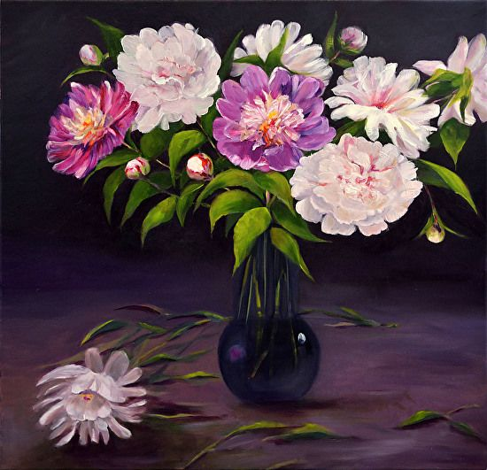 Kathy Rivera - Spring Beauties- Oil - Painting entry - June 2017 | BoldBrush Painting Competition