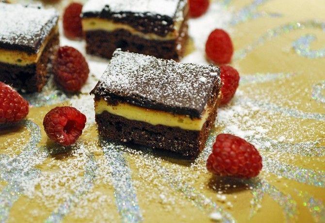 Tripla csokis brownie