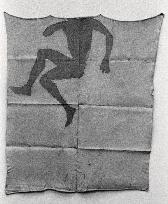 Antony Gormley - BLANKET DRAWING I, 1983