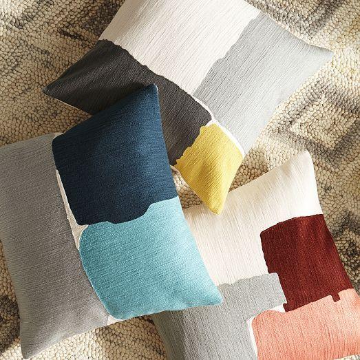 Steven Alan Abstract Crewel Pillow Cover - Horseradish | West Elm