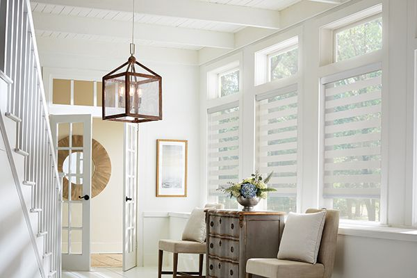 Graber Blinds Layered Shades with Continuous-Loop Lift: Crestones, Lace 4683