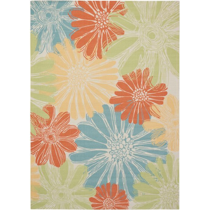 Nourison Home Garden Indoor Outdoor Area Rug With Images Indoor Garden Indoor Outdoor Area Rugs Outdoor Area Rugs