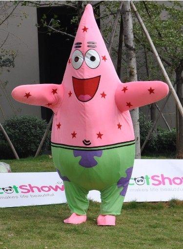 パトリックスター着ぐるみ http://www.mascotshows.jp/product/patrick-starfish-mascot-adult-costume1.html