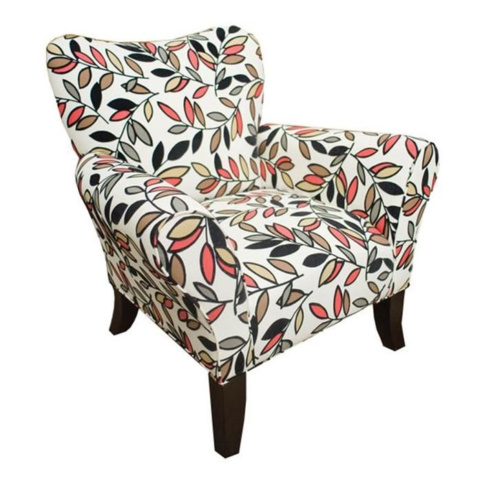 Contemporary Floral Accent Chair | Nebraska Furniture Mart