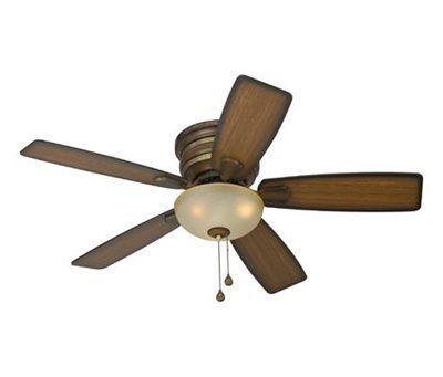 Harbor Breeze 44-in Cedar Hill Walnut Casual/Transitional Ceiling Fan with Light Kit