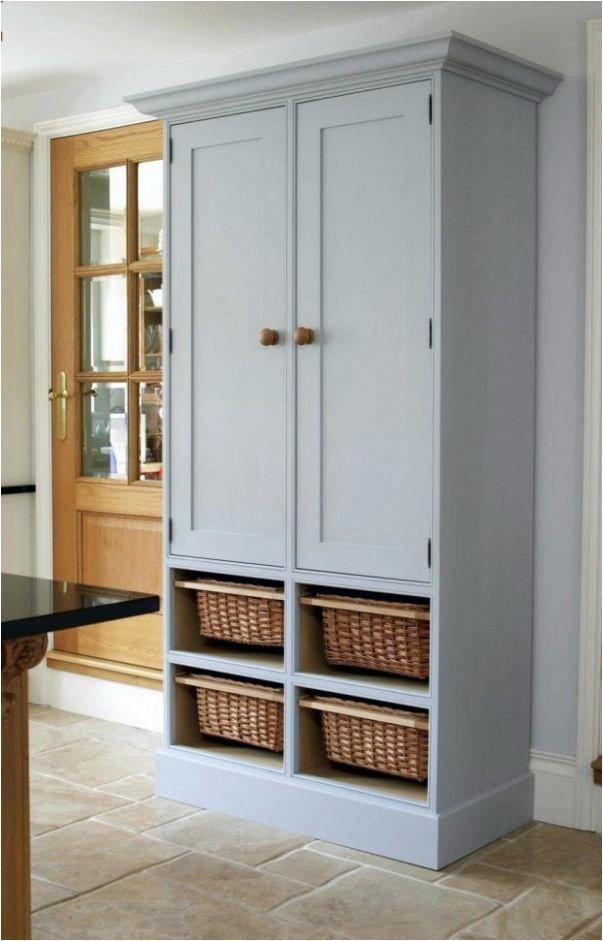 Freestanding Pantry Ikea Tall Corner Larder Unit Luxury Oak