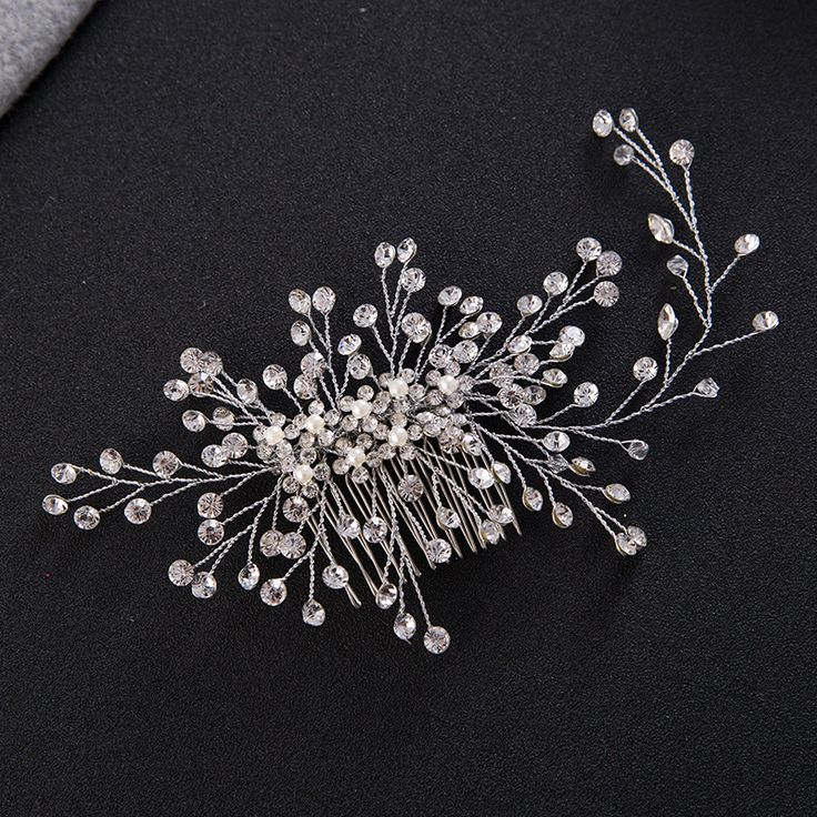 Luxury Crystal Hair Comb //Price: $19.10 & FREE Shipping //     #hashtag1