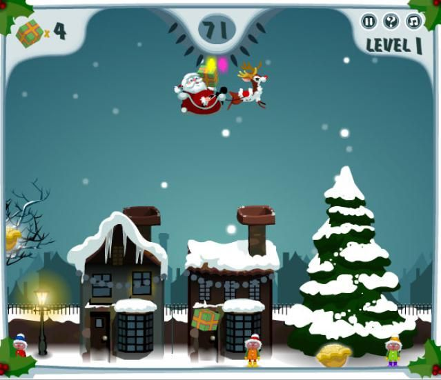 A list of free online games all about Santa.
