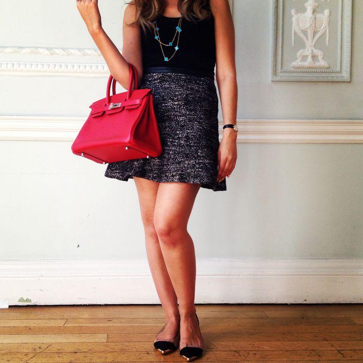 croc handbags cheap - TodayImWearing a 35cm Colbolt Blue Togo Birkin with tweed skirt ...