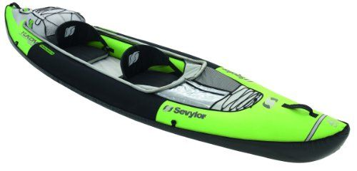 The Sevylor Yukon Touring Inflatable kayak (canoe) comes with adjustable foot rest and adjustable seat with backrest for added comfort.