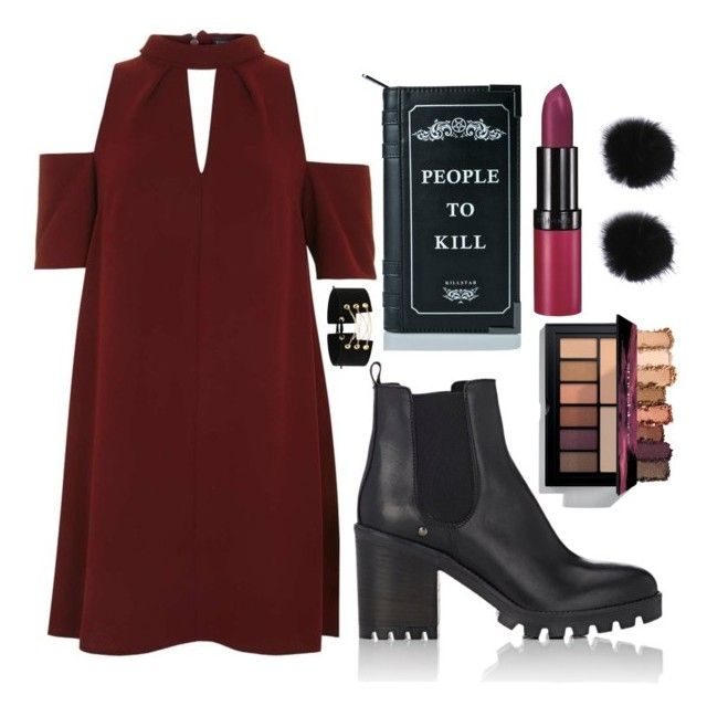"""""""Maroon Look"""" by diyloving on Polyvore featuring Topshop, Barneys New York, Killstar and Rimmel"""
