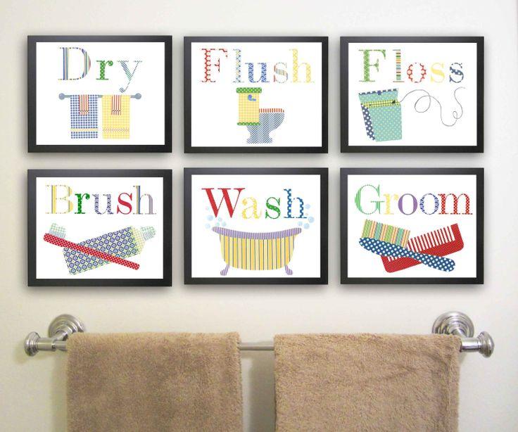 6 11 X Kids Bathroom Decor Kid Wall Art Via Etsy