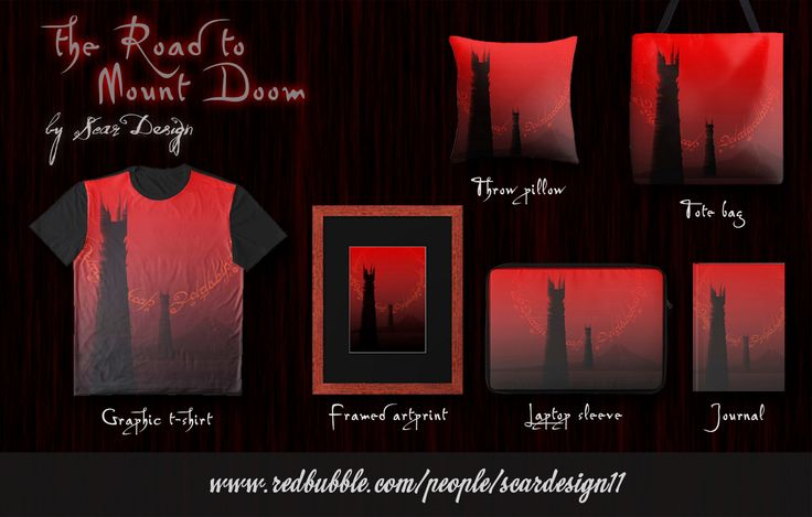 The Road to Mount Doom Products by Scar Design #lotr #lotrduvet #homedecor #homegift #home #gift #twotowers #mountdoom #dark #red #lotr #redbubble #tolkien #poster #movieposter #movietshirt #tshirt