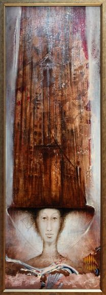 ELYZIUM, 150x50 cm, mixed media