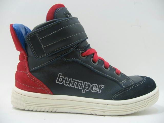Bumper half high sneaker red marked