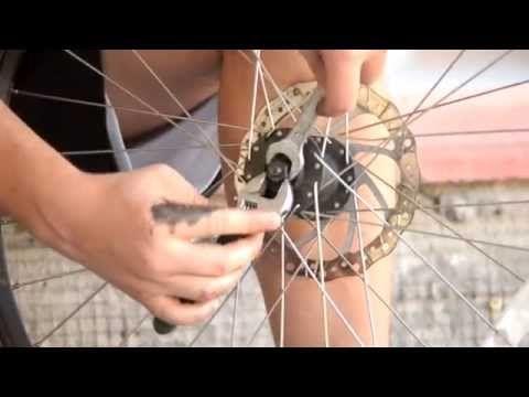 Разборка втулки переднего колеса велосипеда