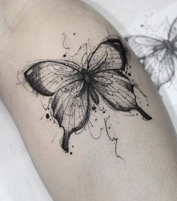 Style Tattoo auf meinem Bein!
