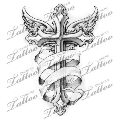 25 best ideas about tattoo banner on pinterest banners for Memory cross template