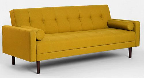 Mustard sleeper sofa from Urban Outfitters