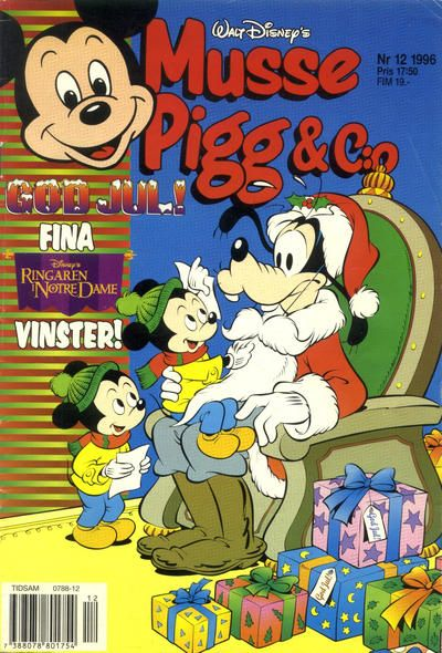 Cover for Musse Pigg & C:o (Serieförlaget [1980-talet], 1993 series) #12/1996
