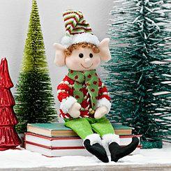 Plush Boy Elf Sitter